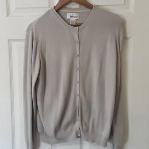 Worthington Sz XL Gray Button up Cardigan
